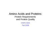 35 AAs - Protein Requirements and Quality