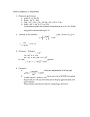 Sample Midterm 1 with solutions
