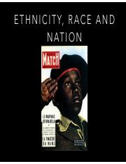 Ethnicity, Race and Nation Spring 2017