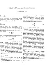 Electric Fields and Equipotentials - Experiment NA