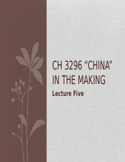 CH3296 Lecture 5-1
