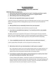 SELF ANALYSIS WORKSHEET 1