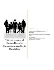 The real scenario of Human Resource Management practice in Bangladesh.pdf