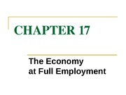 chapter 17 the economy at full employment