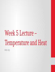 Week 5 - Temperature and Heat (1)