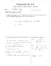 MATH 131.00(7,8) CLASSWORK 3.4 SOLUTION