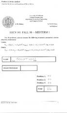 Electrical Engineering 141 - Fall 2000 - Rabaey - Midterm 1