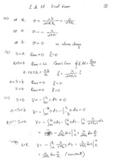 Final Exam Solutions on Electricity and Magnetism