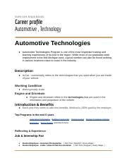 Career Flyer/Profile