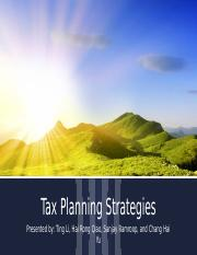 Tax Planning Strategies Powerpoint