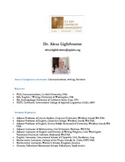 Dr. Alesa Lightbourne
