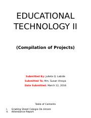 EDUCATIONAL TECHNOLOGY II