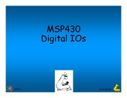 Lecture 14 - MSP430 Digital IOs