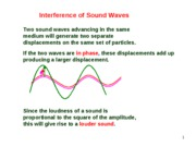 Lesson 5.5 Interference of Sound Waves