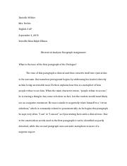 Invisible man 2 paragraph assignment