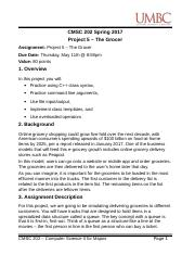 CMSC 202 - Project 5 - The Grocer