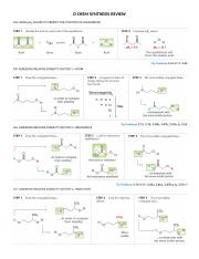 O CHEM SYNTHESIS REACTION REVIEW.docx