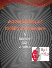 Assessing Reliability and Credibility of CAM Resources.pptx