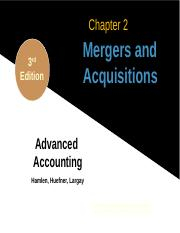 1 Chapter 2 Hamlen - Mergers and Acquisitions (1)