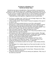 Huckleberry finn essay questions