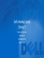 Dell Working Capital Final - Group 5