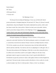 "pilgrimage of grace dbq essay 2004 scoring guidelines ""analyze the concerns and goals of participants in the pilgrimage of grace and of in this dbq consistent attribution will."