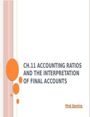 L 11 Accounting Ratios