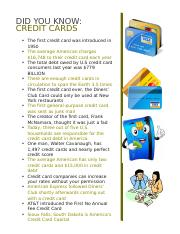 Credit Card Facts Personal Finance