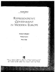 Gallagher Laver Mair Representative Government in Modern Europe