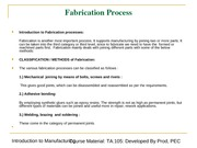 Fabrication and Welding Processes