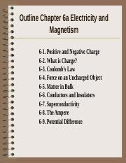 C6 Electricity Magnetism