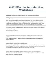 6.07EffectiveIntroductionWorksheet