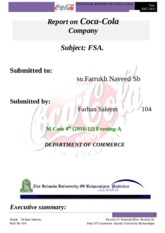 Report on coca cola by Farhan Saleem.doc