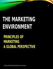 3 The Marketing Environment