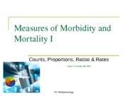 HS 300Lecture 2 MeasuresofMorbidityandMortality I  Spring 2013