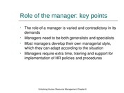 Chapter 6 Role of the manager