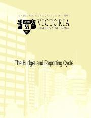 3A. The Budget & Reporting Cycle