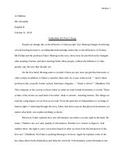 Farenheit 451 Part 2 essay