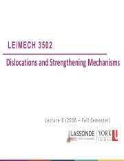2016F MECH 3502.Lecture 6_Dislocations and Strength Mechanisms