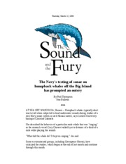 Whales and sound