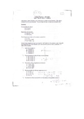 Test 1 Vectors, Velocity and Acceleration