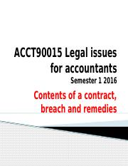 The contents of a contract, breach and remedi 2016