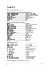 Spanish 1 capitulo_01_vocabulario_1