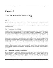 demand and supply - CHAPTER 5 TRAVEL DEMAND MODELING NPTEL
