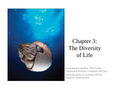 Ch3_Diversity of Life