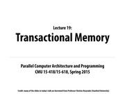 Lecture 19 - Transactional Memory