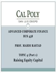 Topic4.1-Raising Equity Capital