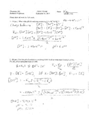 Chem 241 First Exam Key2011