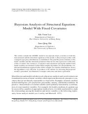 Bayesian Analysis of SEM with Fixed Covariatesi