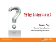 Competing Successfully At Interviews - Slides for Class A3 - Trainer Ms Joan Tay